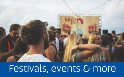 Navigate to the Festivals page