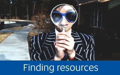 Find resources using the catalogue and databases