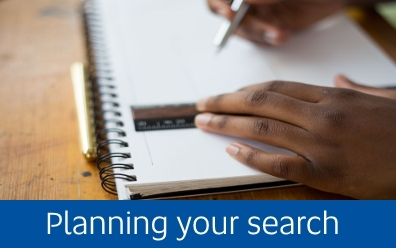 Navigate to the planning your search page