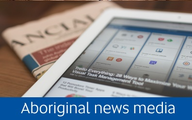 Navigate to he aboriginal news media resource page