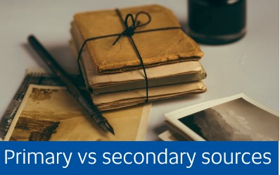 link to information about primary vs secondary resources