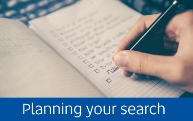 navigate to the Planning Your Search page image source: unsplash