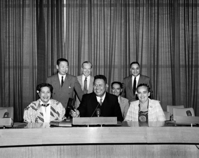 UN Photo # 102554 : Visita a la ONU de Fautua de Samoa Occidental