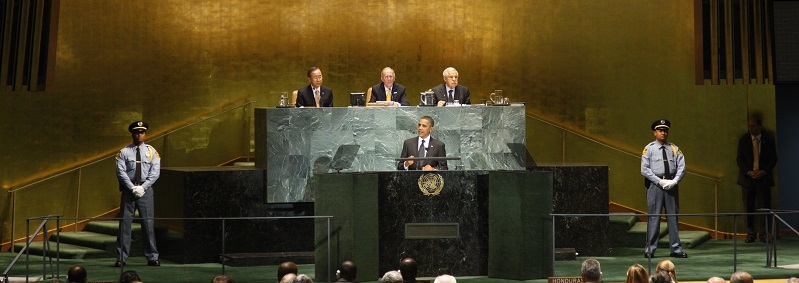 UN Photo 447249: Barack Obama (centre), President of the United States of America, addresses the UN Summit on the Millennium Development Goals (MDGs) 22 September 2010