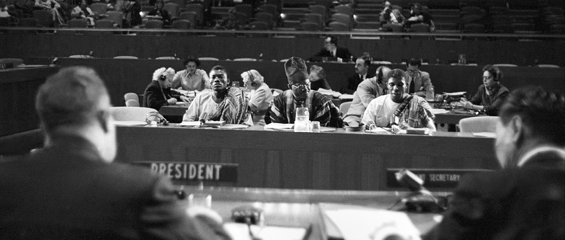UN Photo #372765 : The Trusteeship Council Petitioners on Togoland Unification Problem