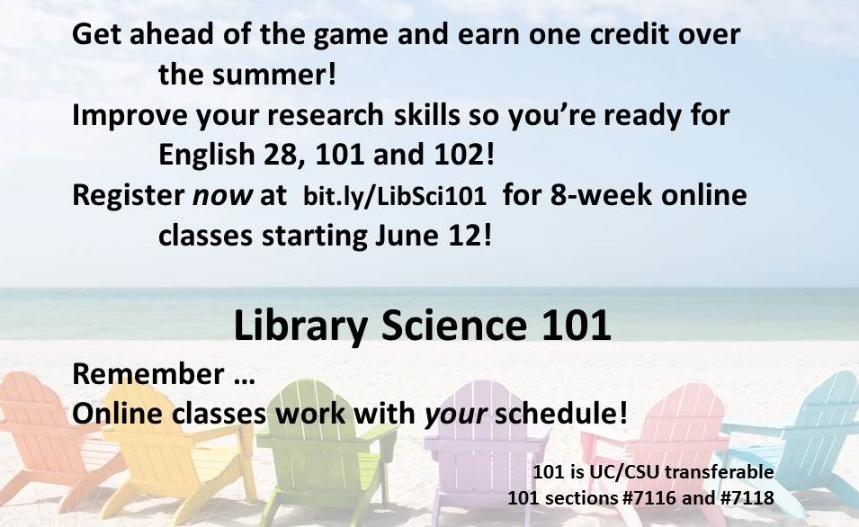 Library Science 101 summer
