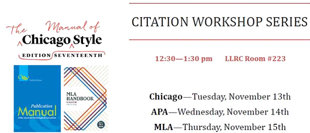 November citation workshops