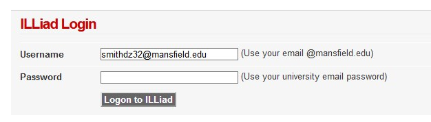 Login with your email address at mansfield.edu and your email password