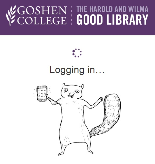 Login screen for Goshen College's library resources