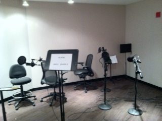 Performance space inside the Audio Studio