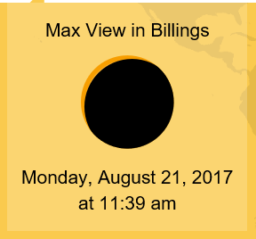 Image shows max viewing time in Billings is at 11:39 am on Aug 21, 2017