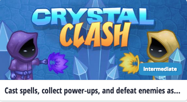 Play the Crystal Clash Coding Game