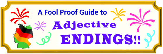Banner - A fool proof guide to adjective endings