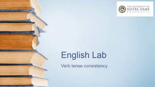 Video on verb tense consistency