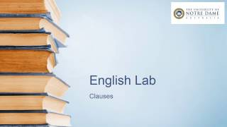 Video on clauses