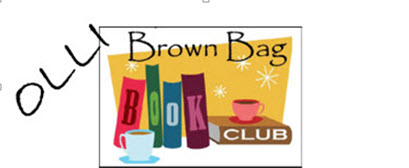 OLLI book club logo with books and coffee cups