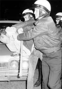 Photo of Police Raid during 1967 Belle Isle Love-In