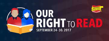 Our Right to Read September 24 - 30, 2017