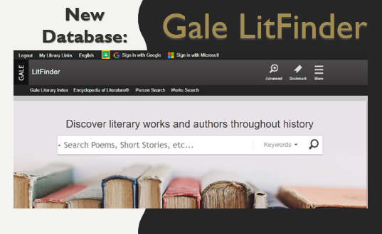 Gale LitFinder Image and Link