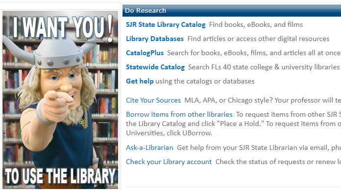 the Library page in MySJRstate