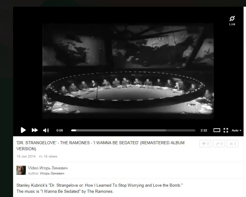 screen shot of ramones and dr strangelove russian video mashup