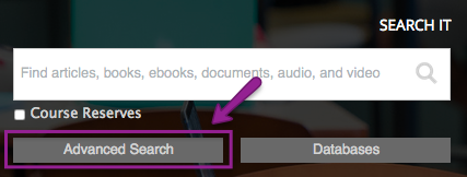 Advanced Search button for Search It