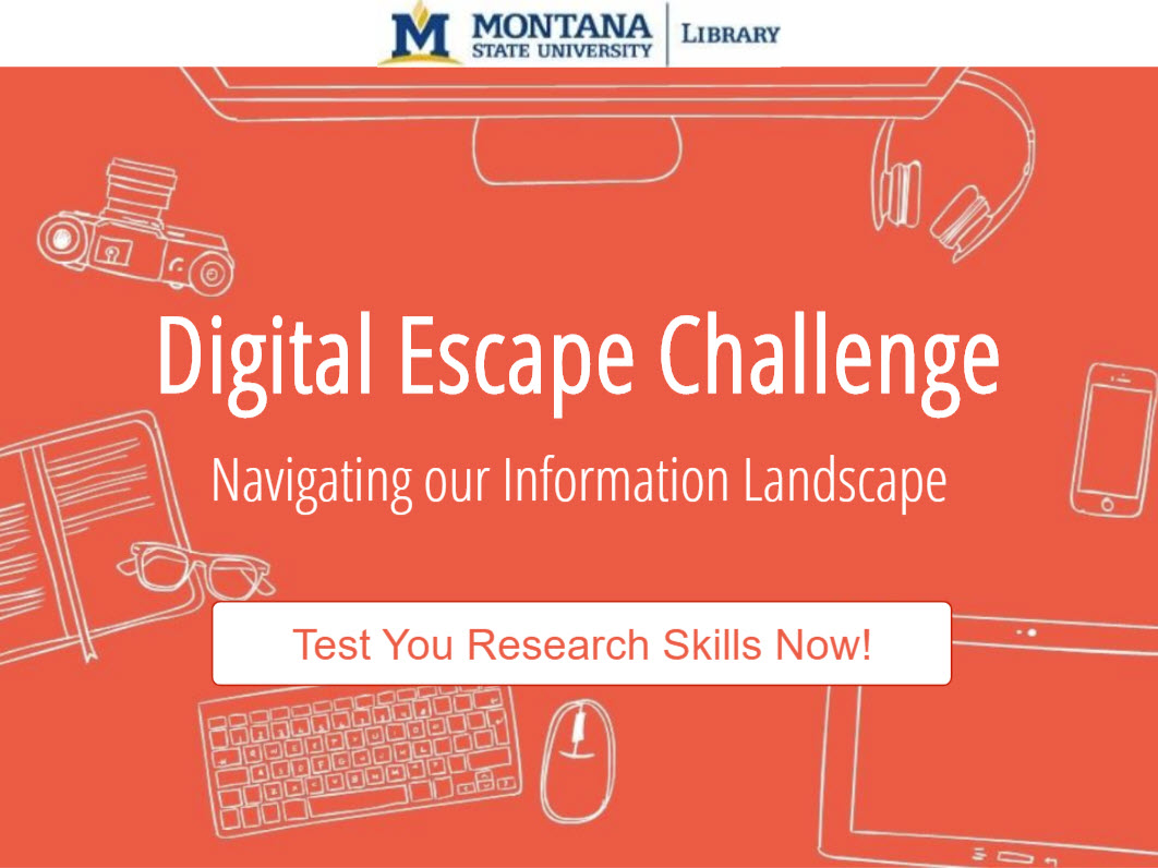 Thumbnail image that links to an interactive module titled Test Your Library Skills