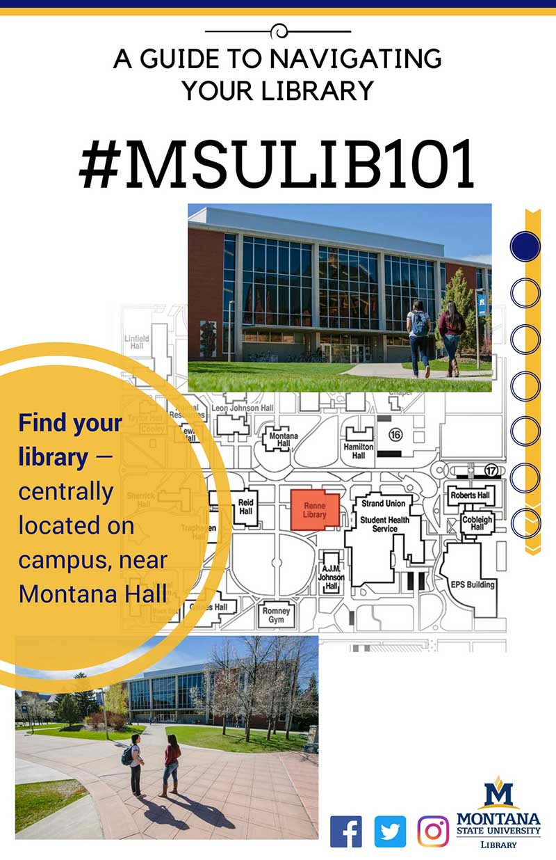 Find your library centrally located on campus near Montana Hall