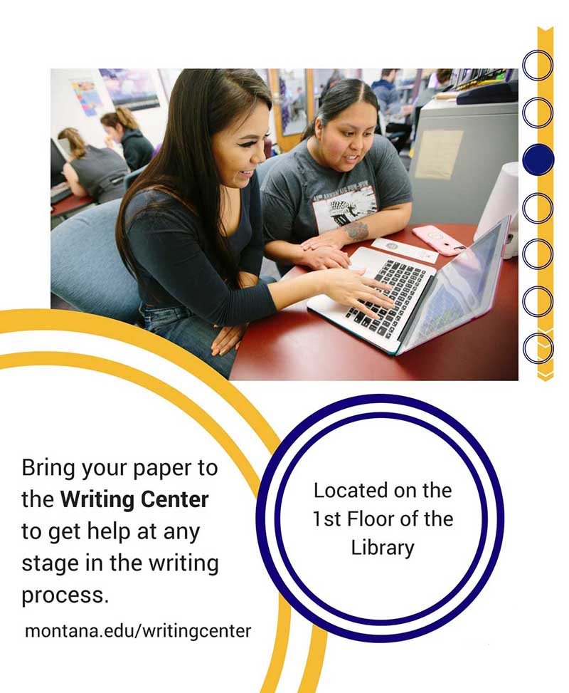 The Writing Center is on the first floor