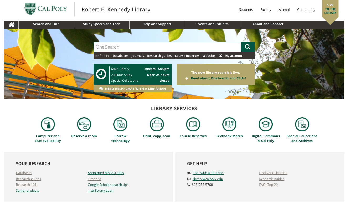 Kennedy Library website