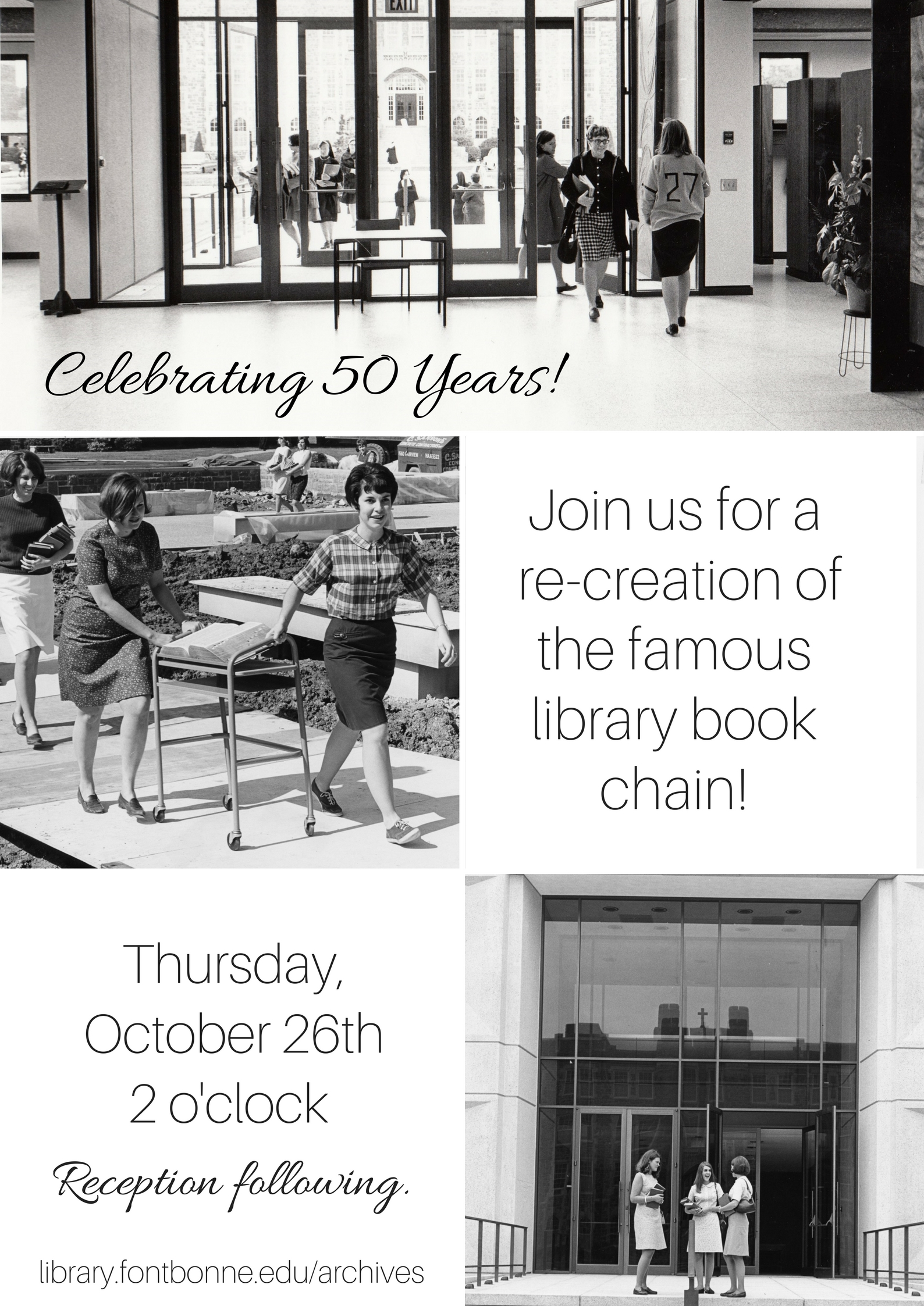 Join us! 50th Anniversary Celebration | October 26th, 2pm