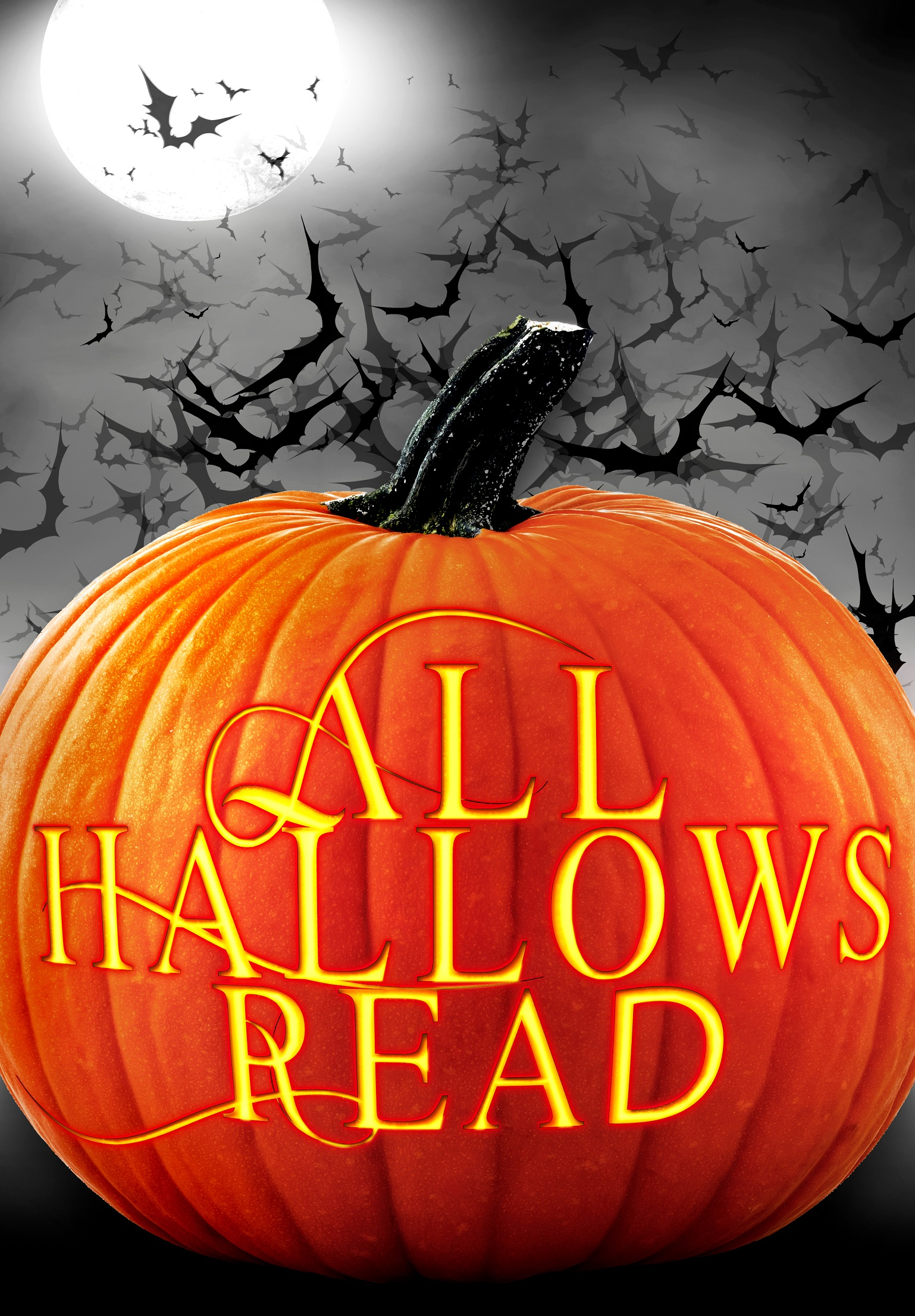 pumpkin all hallows read poster