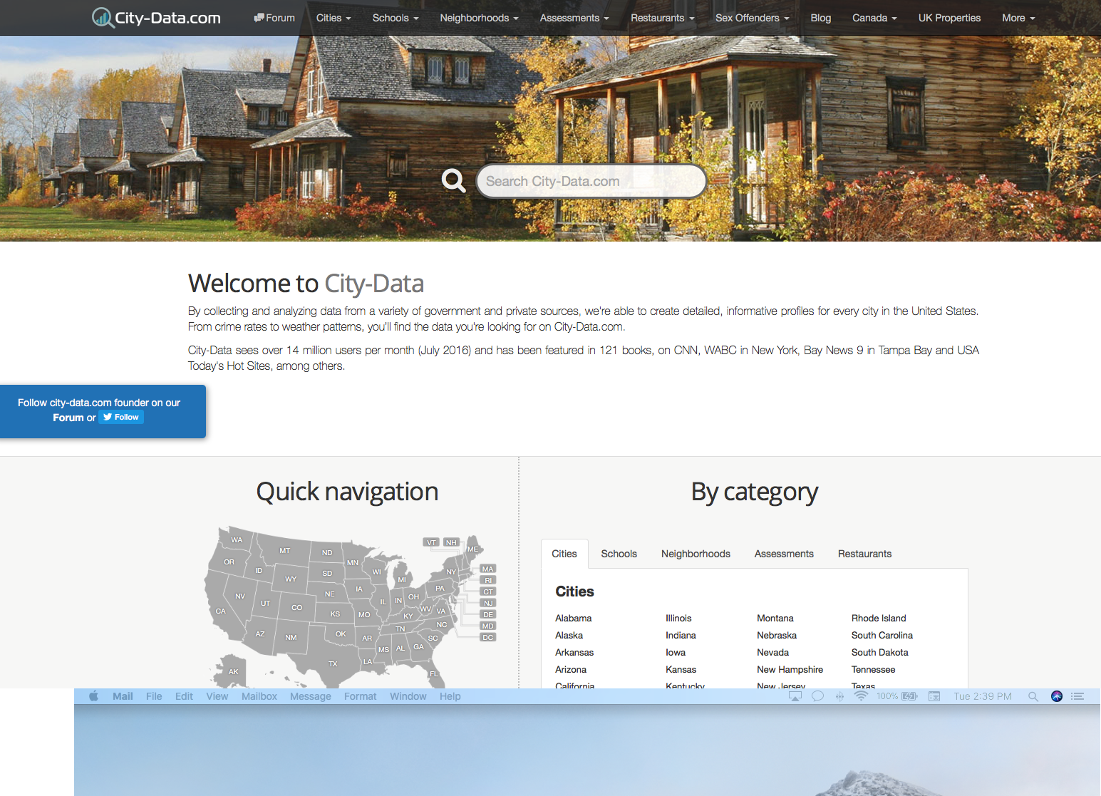 City Data.com website