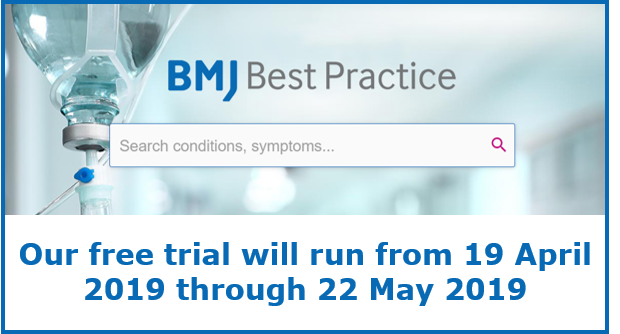 Trial access to BMJ Best Practice