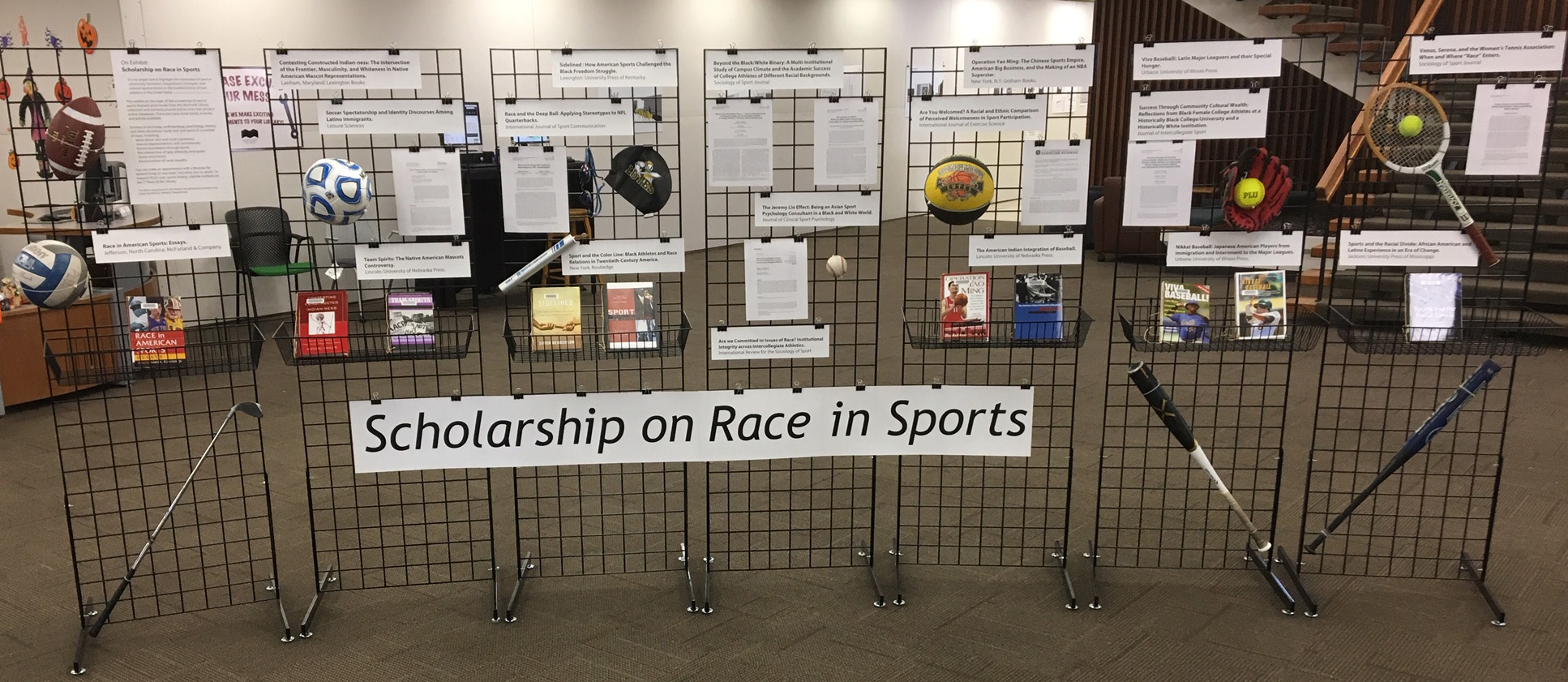 Scholarship on Race in Sports exhibit