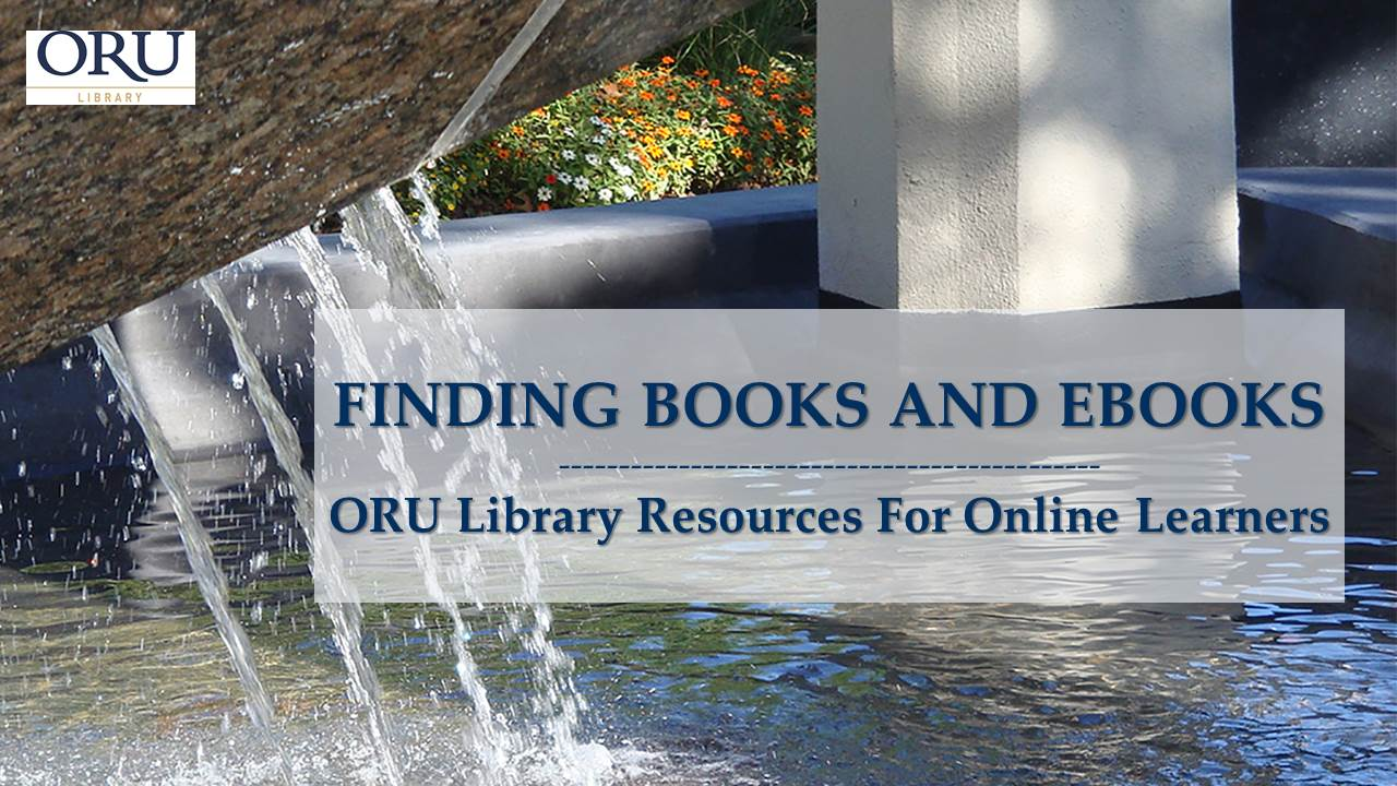 Thumbnail Finding Books and eBooks video