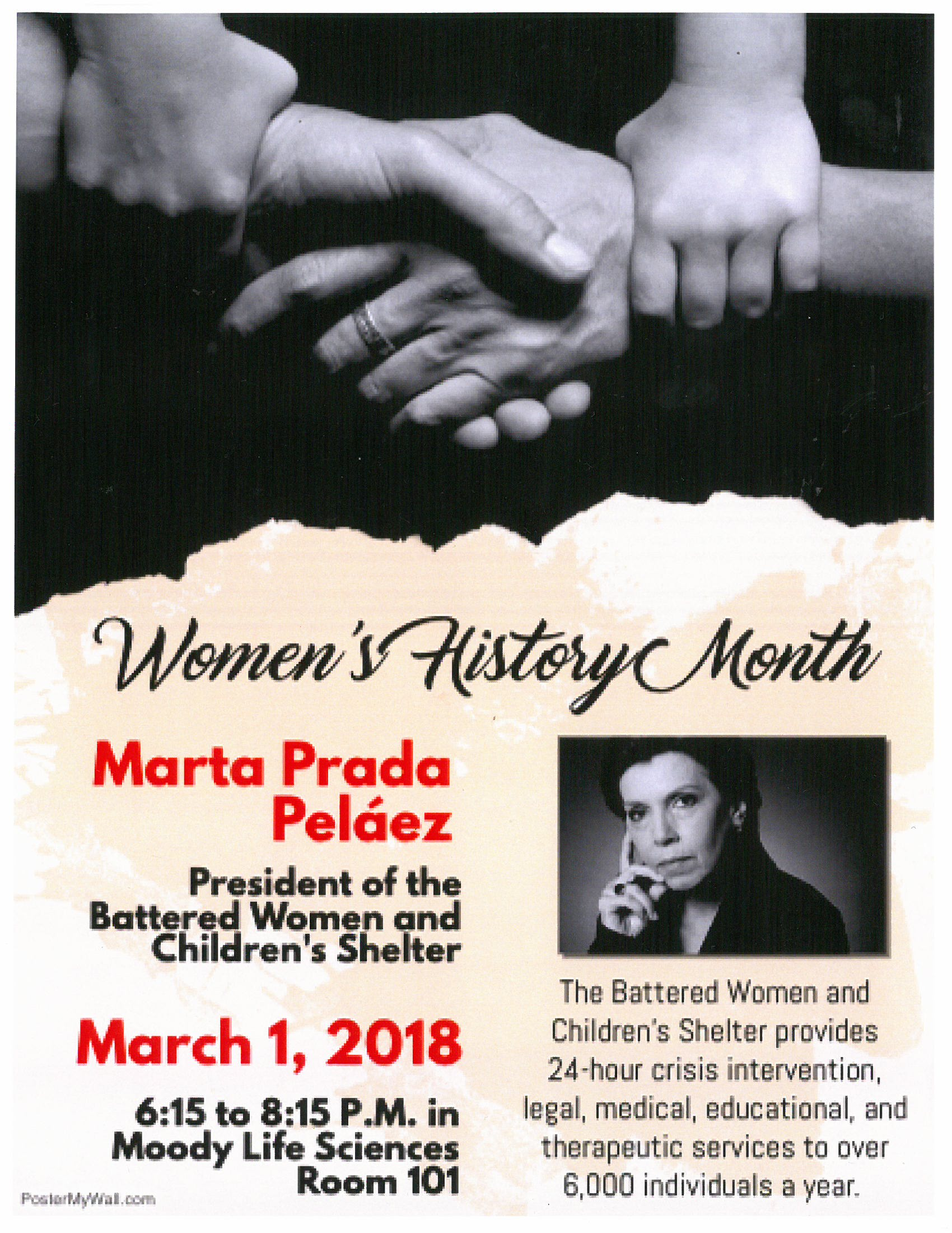 A Journey Through Time: Featuring Marta Prada Pelaez, The Battered Women and Children's Shelter