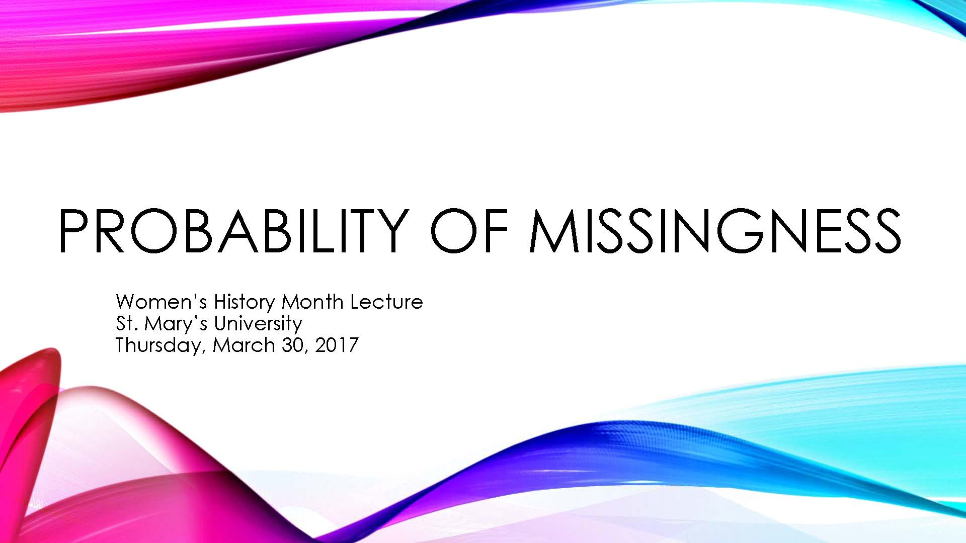 Probability of Missingness Cover