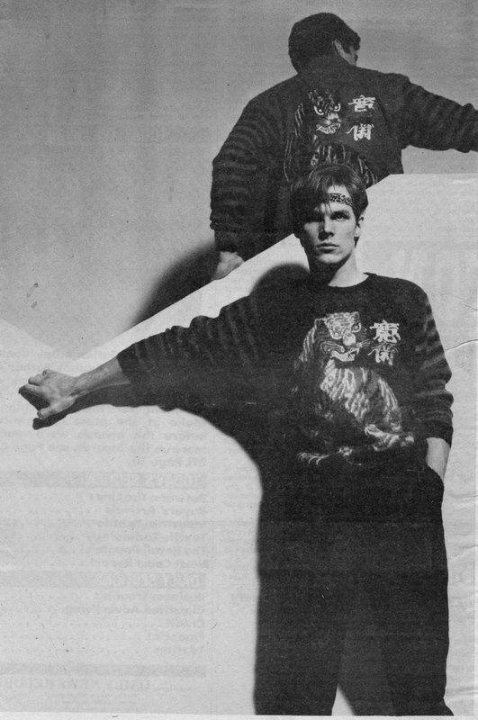 Image of men in Yamamoto sweaters