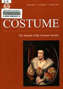 Cover of Costume: The Journal of the Costume Socie