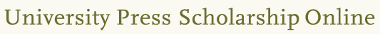 University Press Scholarship Online logo