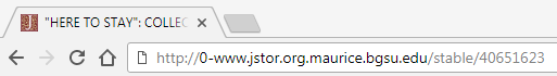 Example of alternate access proxied link in JSTOR