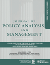 Cover Journal of Policy Analysis and Management