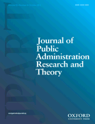 cover of the journal of public administration