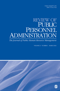 Cover of Review of Public Personnel Administration