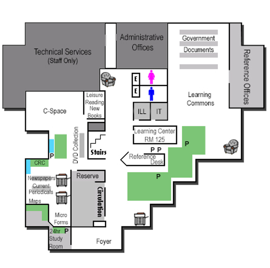 map of Ablah Library first floor
