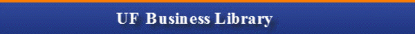 UF Business Library banner image