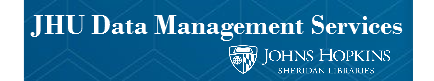 JHU Data Management Services