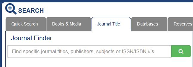 Journal Title search