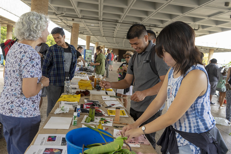 Earth Day Concourse tables